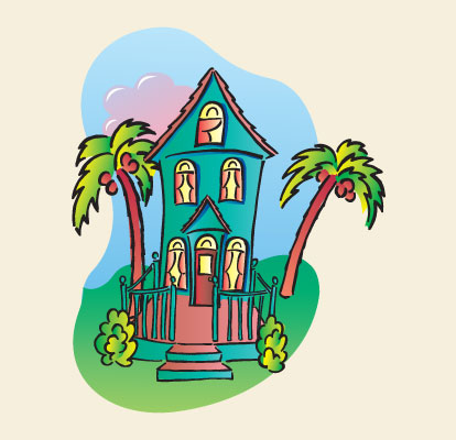 Victorian Tropical House Illustration Dean Allan Design