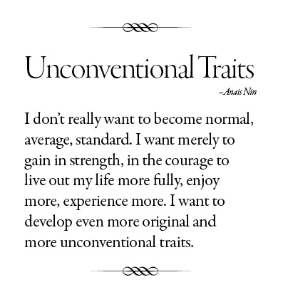 Quote Unconventional Traits
